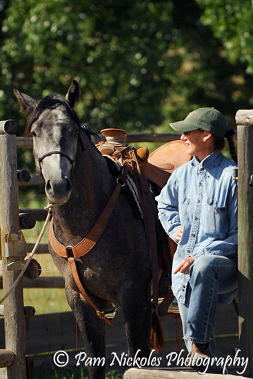 Jody with Rich Scott's horse