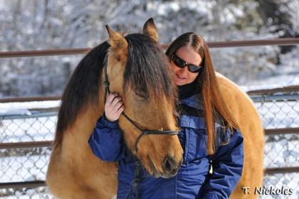 My Mustang El Corazon (Cory). He's my rainbow, my healer, my gift.